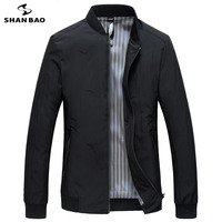 SHANBAO Men's Thin Jacket 2019 Spring High Quality Luxury Feather Embroidery Business Casual Zipper Brand Jacket Black Green