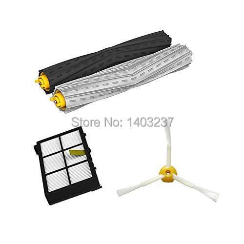 Tangle-Free Debris Extractor Set & HEPA Filter & Side Brush replacement Kit For iRobot Roomba 800 series 870 880 900 series 980