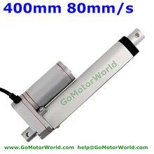 Best heavy duty Linear Actuator 12V 24V 400mm Stroke  1500N load 80mm/s speed actuator linear