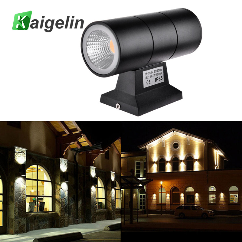 Kaigelin 6w 220V Porch Lights Outdoor Waterproof LED Wall Lamp COB Aluminum Exterior Wall Light Outdoor Garden Street Lighting modern waterproof cube cob led light wall lamp home lighting decoration garden outdoor indoor wall lamp aluminum 6w 12w ac 220v