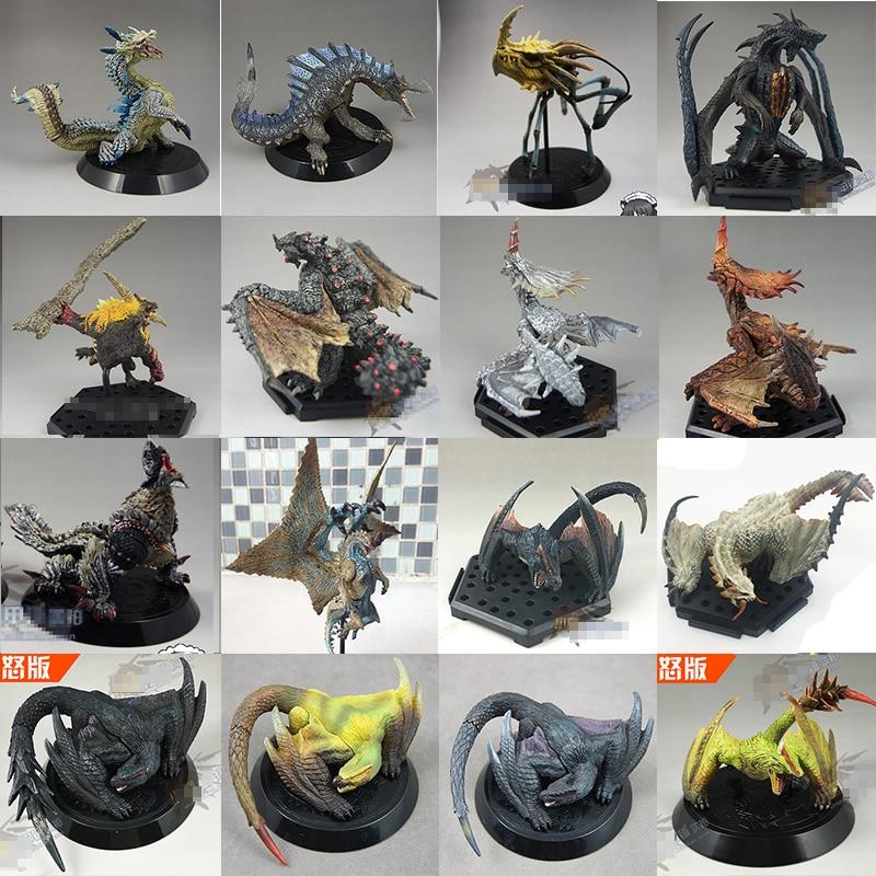 28 Super Hot Star Japan CAPCOM Dragons Monster Hunter Action Figures Ganototos Raoshanlon Dragons Animal Model Toys Gift dragons фигурка toothless сидящий