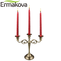 ERMAKOVA 3 Candle Metal Candelabra Retro Candle Stick Candle Holder 3 Stands Candlelight Dinner Wedding Gift