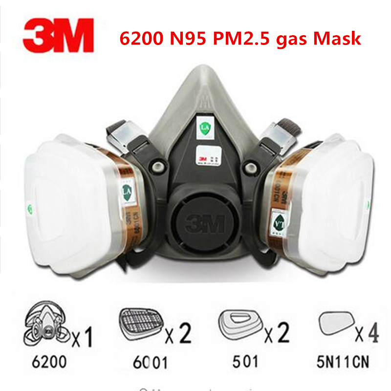 Frank 9 In 1 Suit 3m Half Face Gas Mask Respirator Painting Spraying Dust Mask 6200 N95 Pm2.5 Gas Mask High Quality 11.14 Modern Techniques Kitchen Drains & Strainers