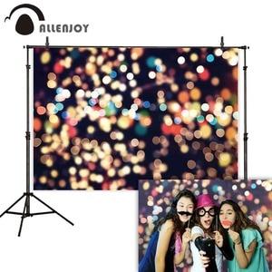 Image 1 - Allenjoy backgrounds for photo studio shiny halo bokeh selfie portrait party wedding photography backdrop photophone photocall