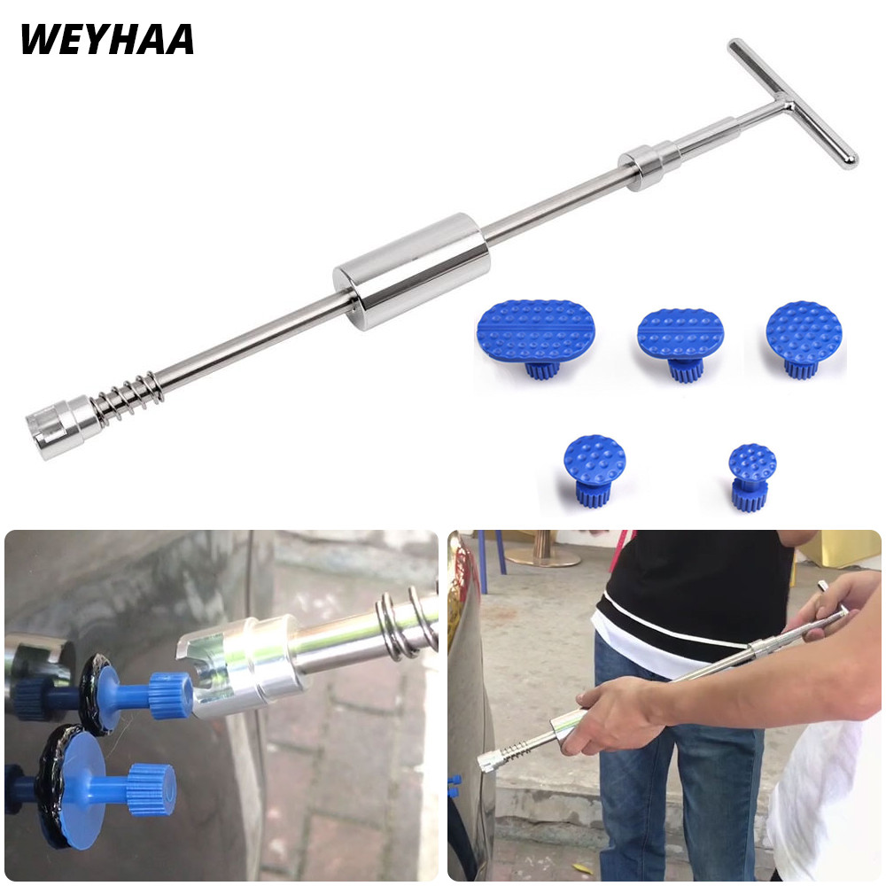 WEYHAA PDR Tools Slide Hammer Paintless Dent Repair Tools Dent Removal Auto Body Kit PDR Dent Repair Tools +glue Tabs Free Gift