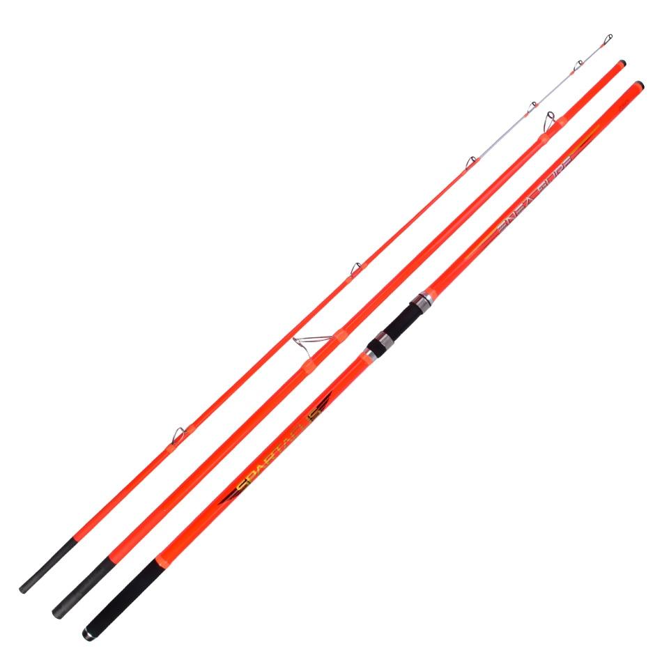4.2 m 30 t En fiber de Carbone 100g-300g Leurre Poids 3 Sections Surf casting Rod Ucatchok distance jeter loin coup Surf Tige