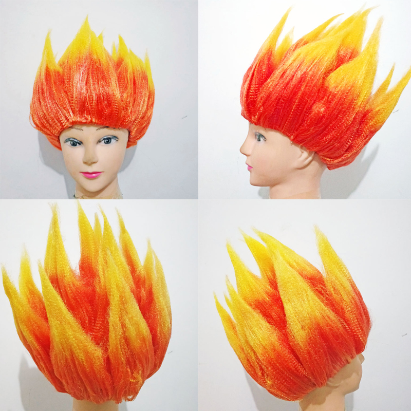 Trolls Head Flame Wig Wukong Anime Cosplay Wig Toy Children Party Prop Wig Comic Dragon Ball Fluffy Lotus Head Costumes HairTrolls Head Flame Wig Wukong Anime Cosplay Wig Toy Children Party Prop Wig Comic Dragon Ball Fluffy Lotus Head Costumes Hair