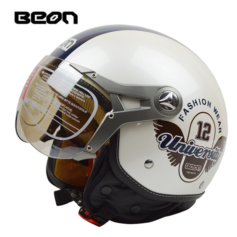 BEON 120 fashion casque motorcycle helmet half face four season casco moto beon helmets capacete half helmet electric bicycle все цены