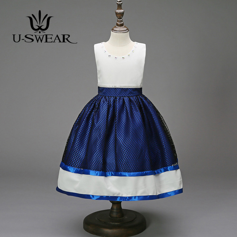 U-SWEAR 2019 New Arrival   Flower     Girl   Pageant Ball Gown 5 Colors Mesh Color Colck Bow Sleeveless   Flower     Girl     Dresses