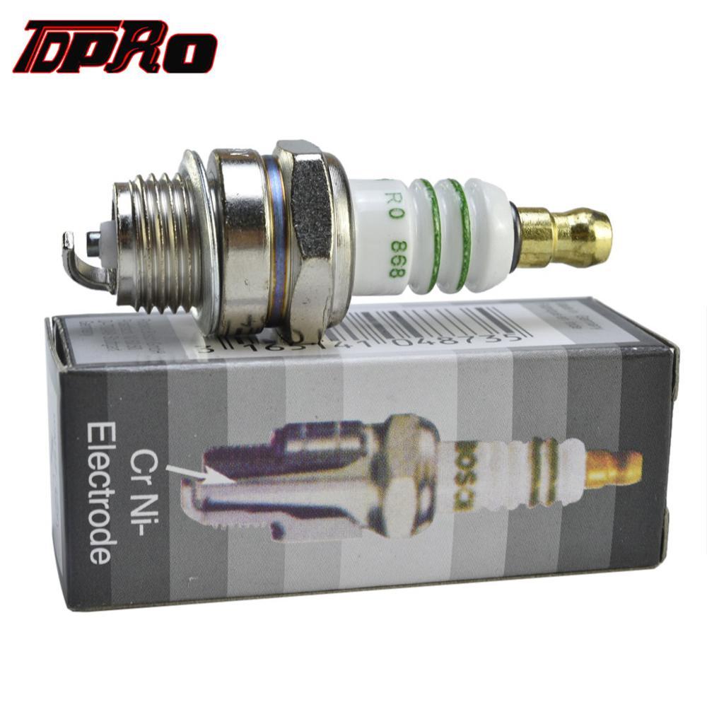 TDPRO 5Pcs/10Pcs Lawn Mower Ignition Spark Plug For 2-Stroke 47cc 49cc 66cc 80cc Mini Moto Racing Pocket Quad ATV Dirt Pit Bike