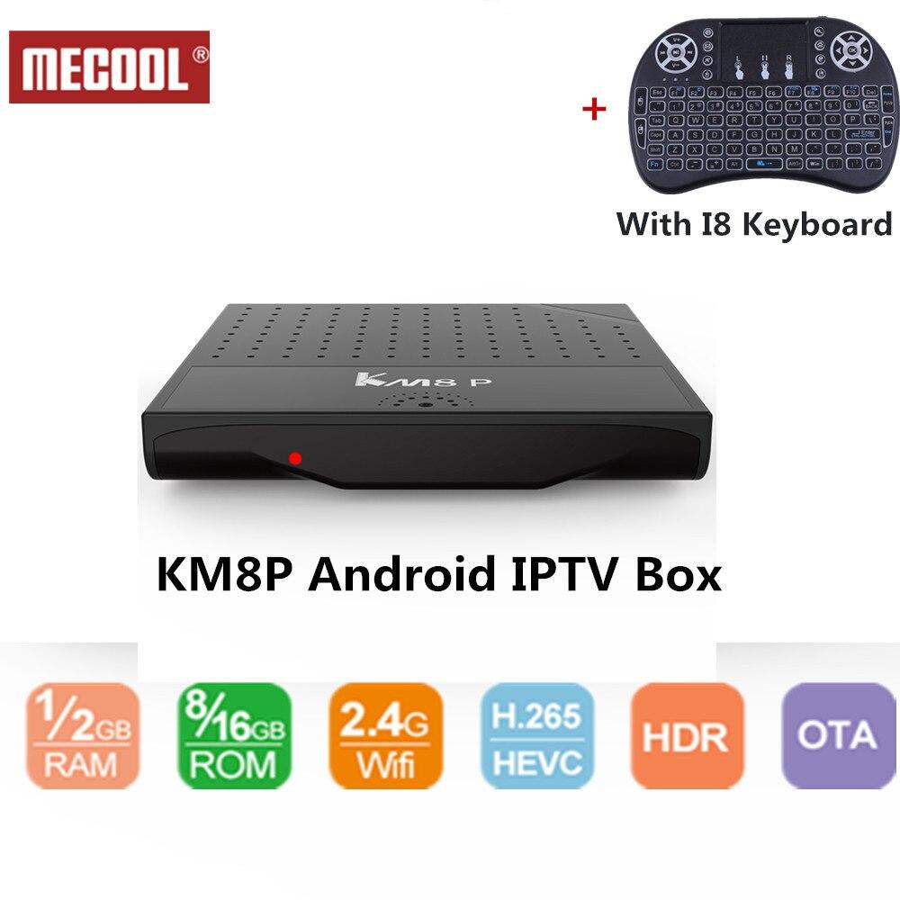 Mecool KM8P boîtier de télévision androïde Android boîte d'iptv 1 GB 8 GO Android 6.0 WiFi OctaCore 4 K HD Smart Set décodeur tv KM8P PK A95X X96