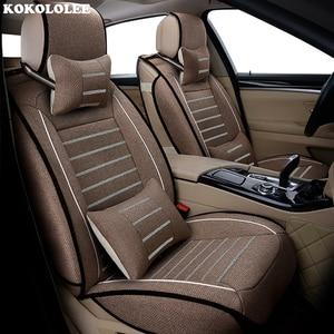 Image 5 - New Luxury flax Universal car seat cover for hyundai Elantra solaris tucson Zhiguli veloster getz creta i20 i30 ix35 i40 Car