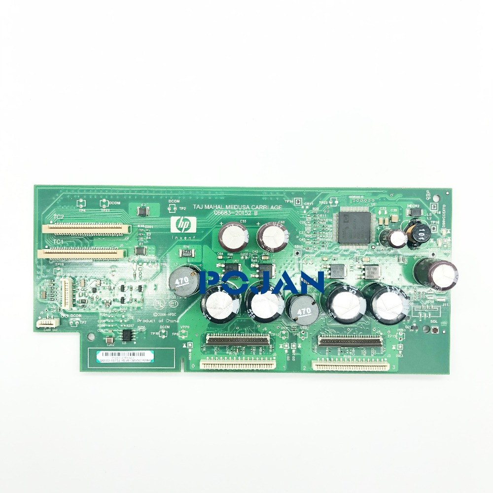 Carriage PCA board CQ6683 67032 Q6687 67012 for Designjet T610 T1100 T1100PS Printhead board ink plotter