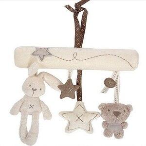 Image 5 - погремушки игрушки для коляски Детская плюшевая погремушка, игрушки на коляску, подвесная кровать, коляска кроватка, Мягкая Милая Музыкальная погремушка с кроликом, развивающие , кровать для новорожденных