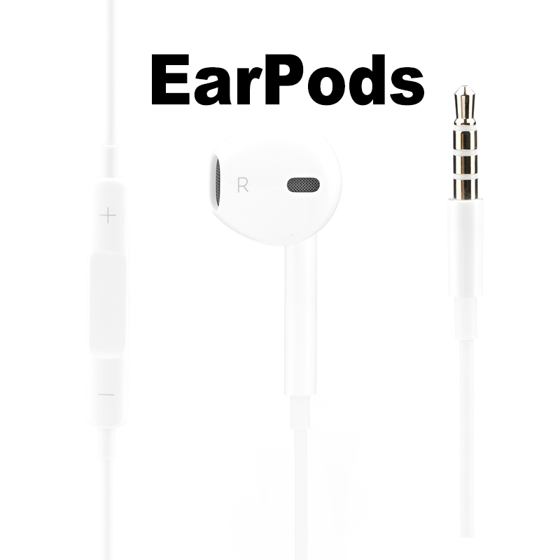 Apple Earpods with 3.5mm plug. Original Earphone for iPhone 55s5c66s PlusSE iPad Mac with Microphone Russian Warehouse