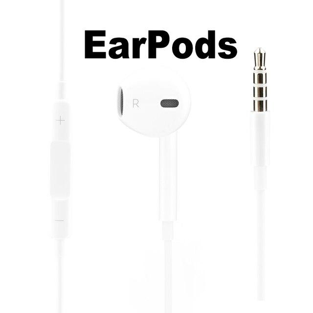 Apple Earpods z 3.5mm wtyczką. Oryginalny słuchawka do iPhone'a 5/5S/5c/6/6 s Plus/SE iPad Mac z mikrofonem rosyjski magazyn