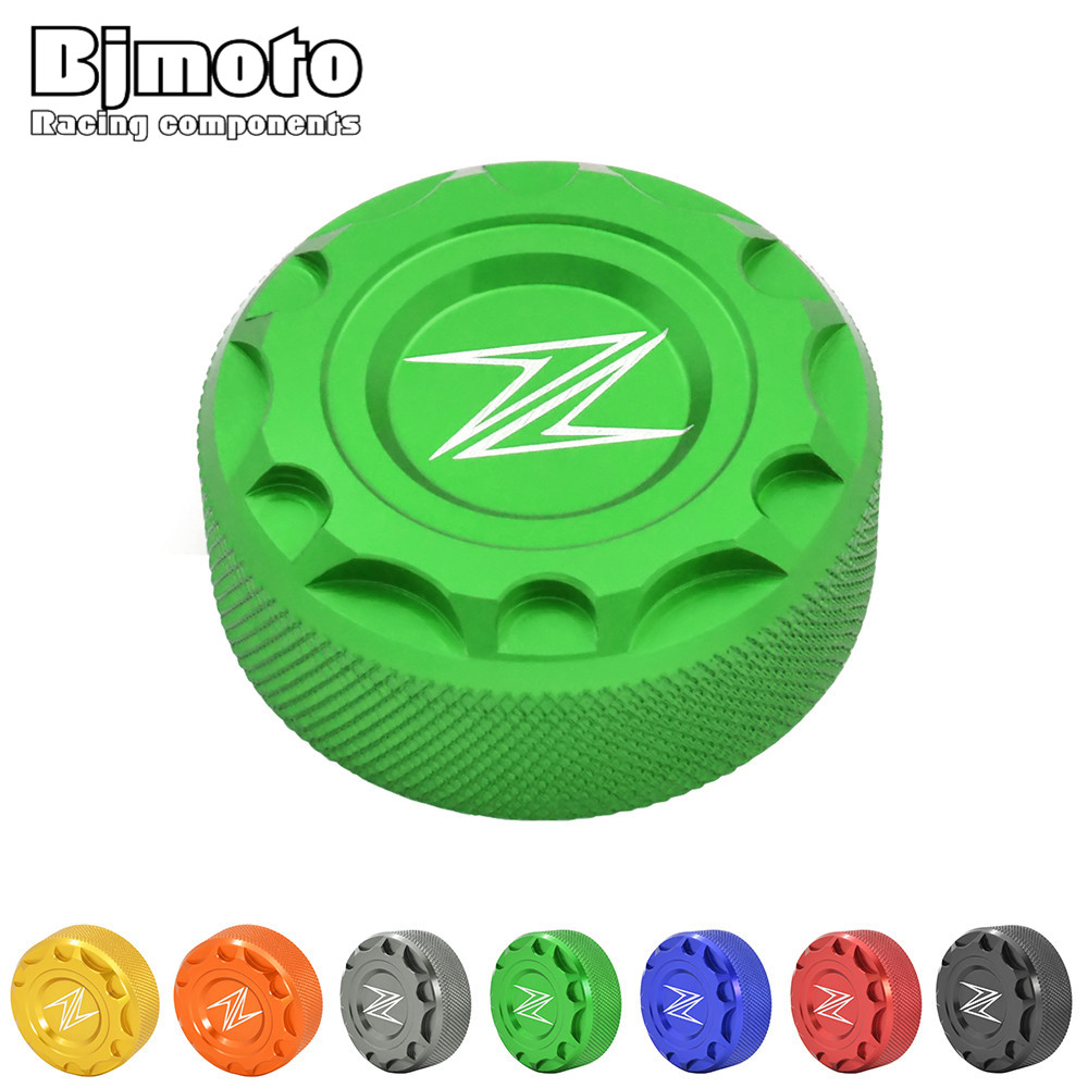OC-032Z-GR Motorcycle Brake Fluid Reservoir Cap Oil Cover with LOGO For Kawasaki Z250 Z650 Z800 Z900 NINJA 600 ZX-6R ZX10 free shipping hot sale for kawasaki z900 z 900 motorcycle accessories rear brake fluid reservoir cap oil cup
