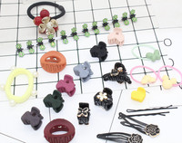 1 Set Fashion New Hot Hair Accessories Crab Claw Clip Girl Flower Hairpin Airy Christmas Baby