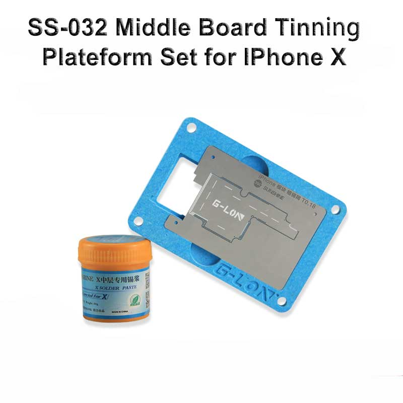 Maintenance Precision board mould for iphone X motherboard PCB Fixture Holder for BGA Chip repair + special solder paste