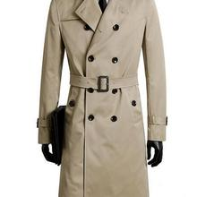 Male trench coat men's clothing plus size spring and autumn long trench