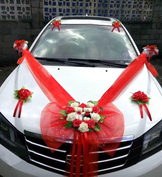 Einfache Stil Hochzeit Auto Dekorative Blumen Herz Formigen Hochzeit