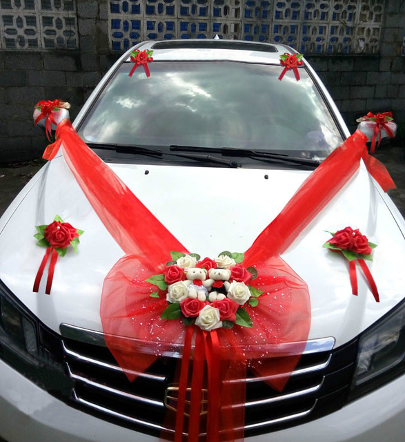 Aliexpress Com Einfache Stil Hochzeit Auto Dekorative Blumen Herz