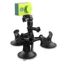 Автомобиль присоске для Go Pro Штатив Держатель Адаптер для GoPro Hero 5 4 3 SJCAM Sj4000 Xiaomi Yi 4 К действие Камера Аксессуары