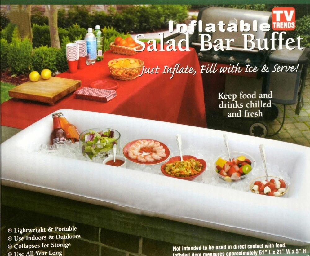 Zomer party opblaasbare saladebar ijsemmer outdoor zwembad decoratie