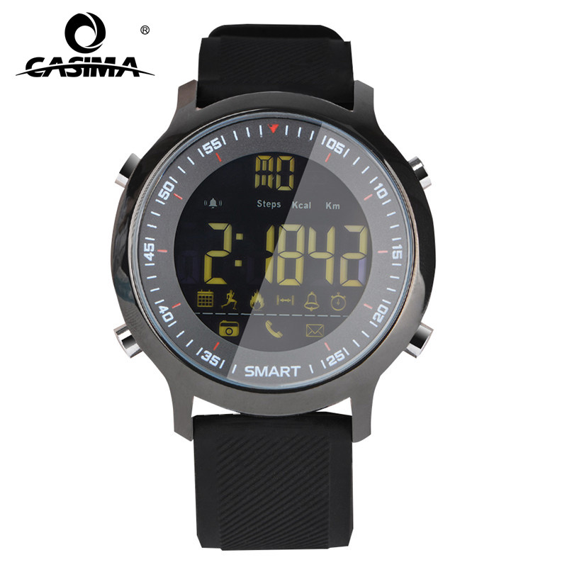 CASIMA Luxury Brand Mens Sport Klockor Vattentät 50m Digital Smart Watch Män Mode Casual Elektronik Armbandsur EX18