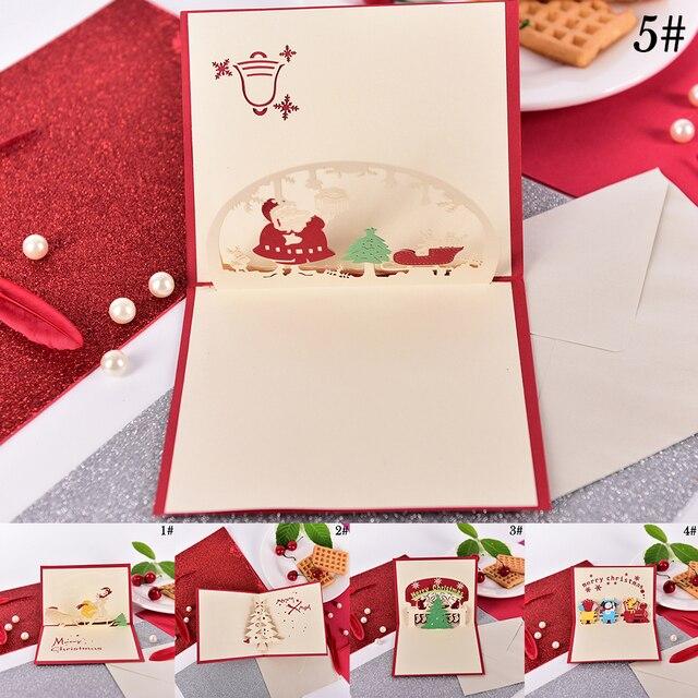 1pc christmas cards 3d pop up merry christmas series santas 1pc christmas cards 3d pop up merry christmas series santas handmade custom greeting cards christmas gifts m4hsunfo