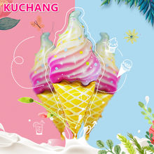 New Mini Ice Cream Dessert Aluminum Balloons Kid's Birthday Party Decorations Baby Shower Sweet Wedding Summer Party Supplies(China)