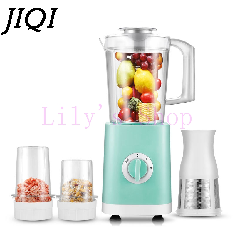 JIQI Multifunction Juice extractor Blender household mini baby food fruit juicer mixer milkshake Soy milk machine Smoothie Maker commercial blender mixer juicer power food processor smoothie bar fruit electric blender ice crusher