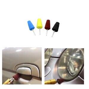 Image 4 - 7 Uds. De almohadillas pulidas para Manilla de puerta de coche, almohadillas pulidas para buje de rueda, almohadilla para pulir, esponja con forma de cono de esquina automática