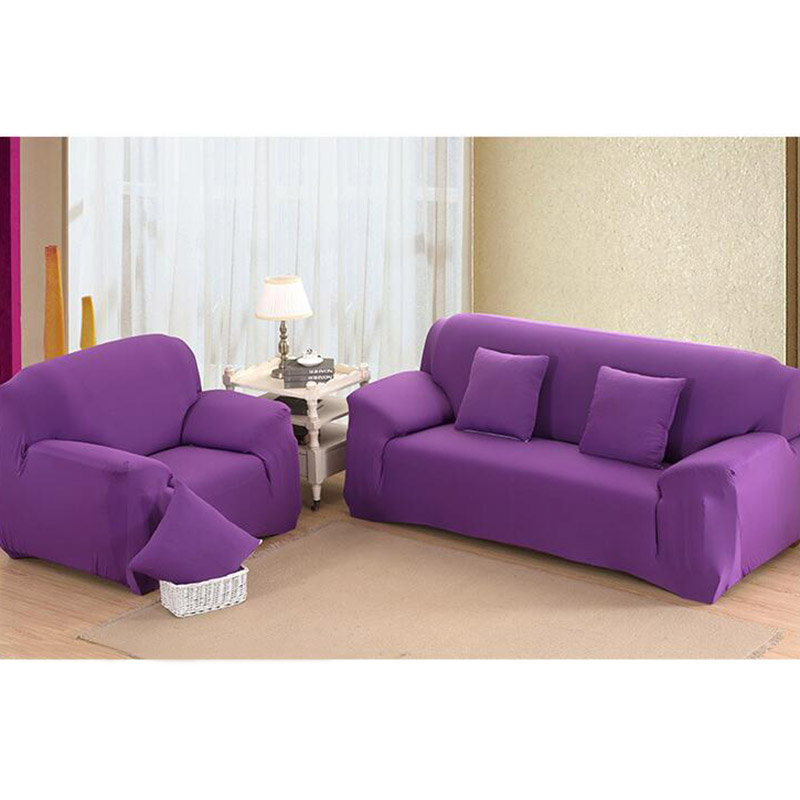 Stretch Furniture Covers Soft Sofa Slipcovers Spandex Cover For 1 2 3 4 Seats Solid Color In From Home Garden
