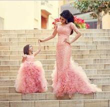 New Arrival Pink Children Flower Girl Dresses Lace Appliques Tulle Ball Gown Flower Girl Dresses For Weddings 2015