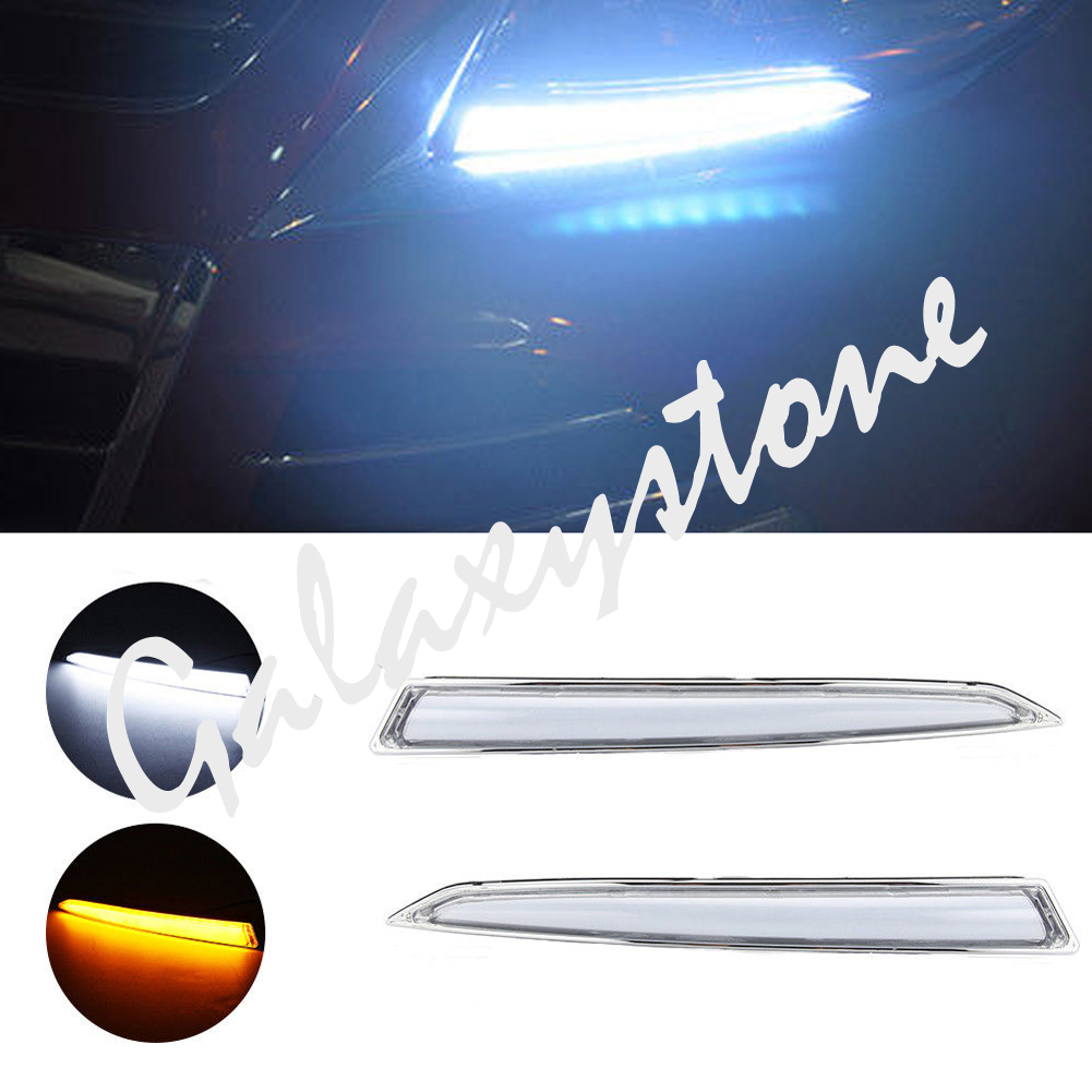 LED Daytime Running Brightness Light for Ford Kuga Escape Fog Lamp DRL 2013 2014 2015