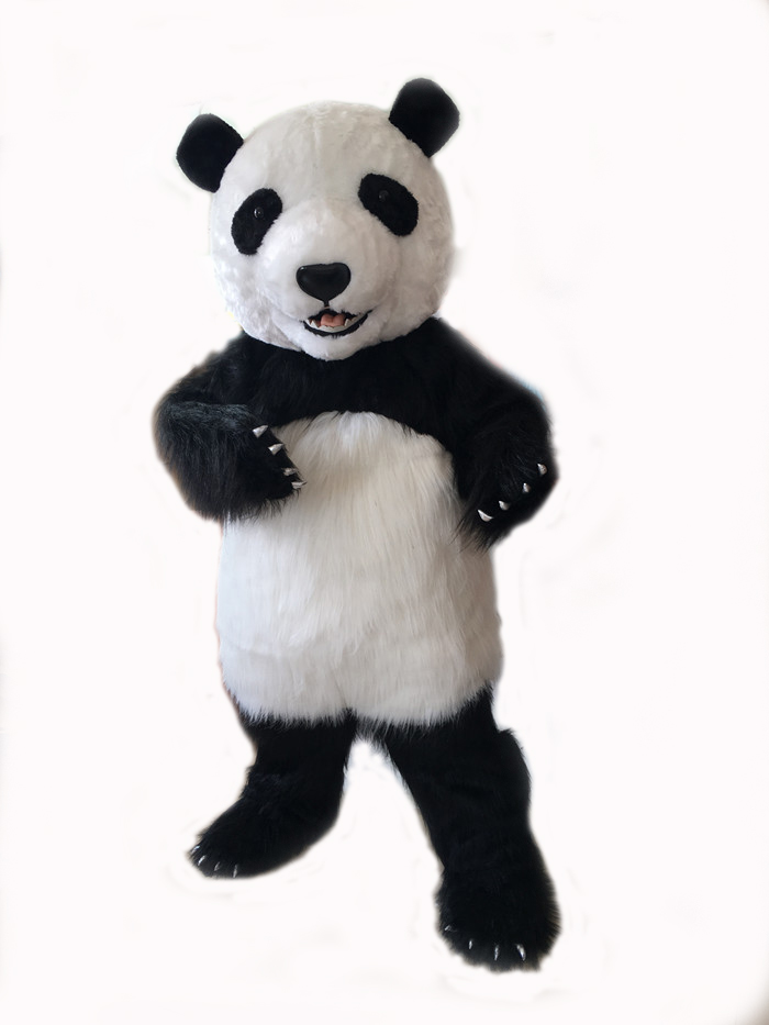 Taille adulte nouvelle version costume de mascotte Panda géant chinois costume de mascotte de noël pour l'événement de fête d'halloween