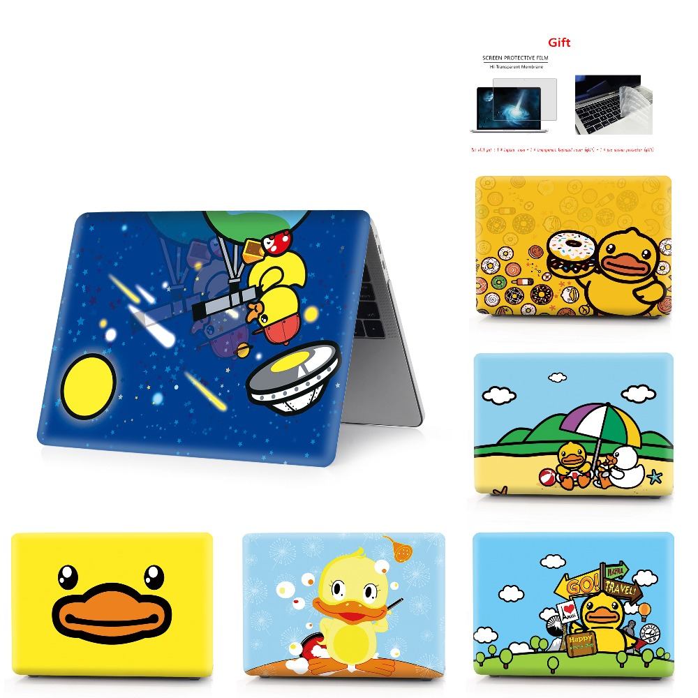 color printing duck  notebook case for Macbook Air 11 13 Pro Retina 12 13 15 inch Colors With Touch Bar New Pro 13 15  Air 13-in Laptop Bags & Cases from Computer & Office