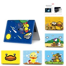 color printing duck  notebook case for Macbook Air 11 13 Pro Retina 12 15 inch Colors With Touch Bar New