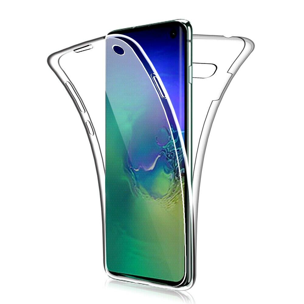 360 duplo Macio Slicone Case for Samsung Galaxy S10 Plus S9 S8 S7 Borda S10E A10 A30 A40 A50 M10 M20 A6 A8 Plus J4 J6 A9 A7 2018