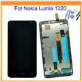 Para nokia lumia 1320 lcd display + touch screen digitalizador asamblea con marco + herramientas de envío libre con número de la pista