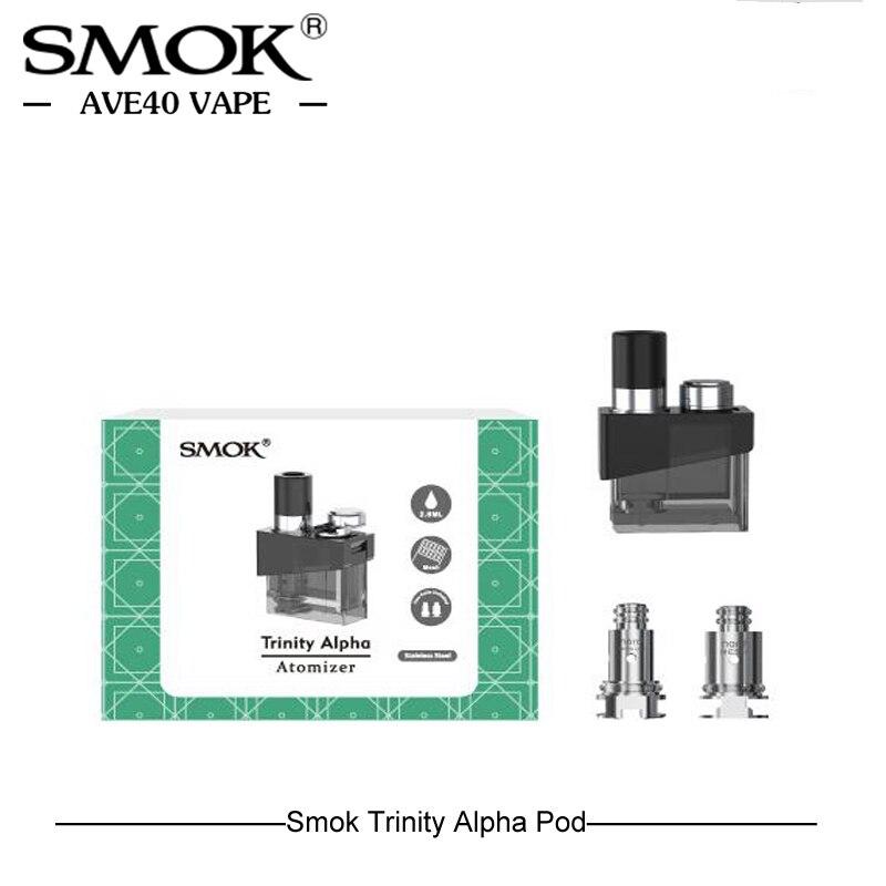 Original Smok Trinity Alpha Ersatz Leere Pod E zigaretten Zerstäuber 2,8 ml Kapazität mit 2 stücke Nord Mesh Spule vs nord Novo pod