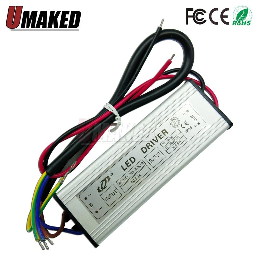 DC 20-40V 10W20W30W50W 300mA/600MA/900MA/1500MA Power Supply Floodlight LED Driver Light Transformer IP66 Waterproof Adapter BA