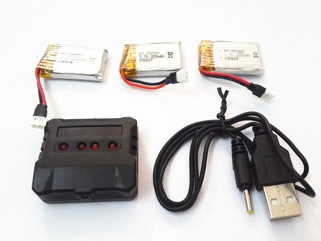 Petite batterie tarentule 1505 pour 1306 Udi U816 U830 DFD F180 Drone RC 3.7 V 300 mah batterie Lipo + chargeur pièces dhélicoptère RC