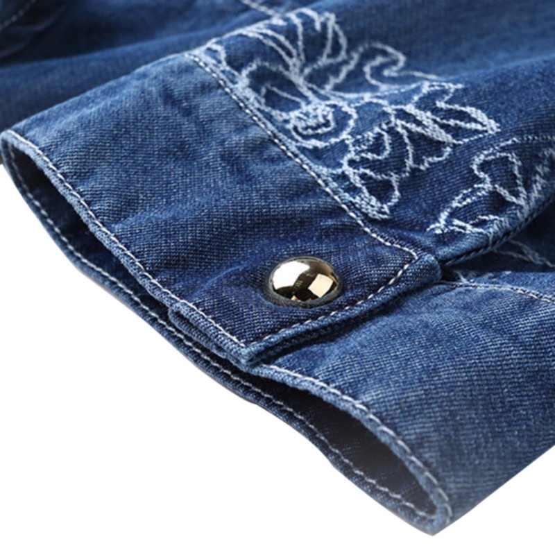 Летнее женское джинсовое платье в винтажном стиле с коротким рукавом и вышивкой, облегающие платья размера плюс, повседневные платья для женщин