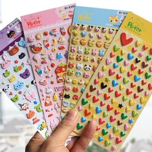 Cute Lovely DIY 3D Bubble Kids Stickers Kawaii Animal Love Heart Sticker Style Decorative Toy Gift for Album Diary Scrapbooking