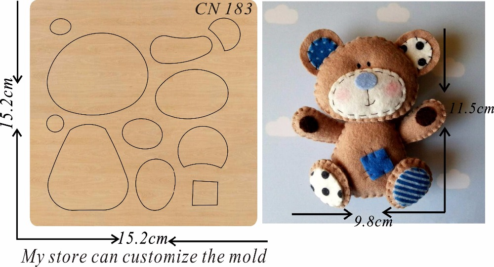 Brown Bear 2 new wooden mould cutting dies for scrapbooking Thickness 15 8mm