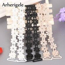 Arherigele Womens Elastic Bra Strap Crochet Floral Sexy Lace Belt Adjustable Shoulder Intimates Accessories