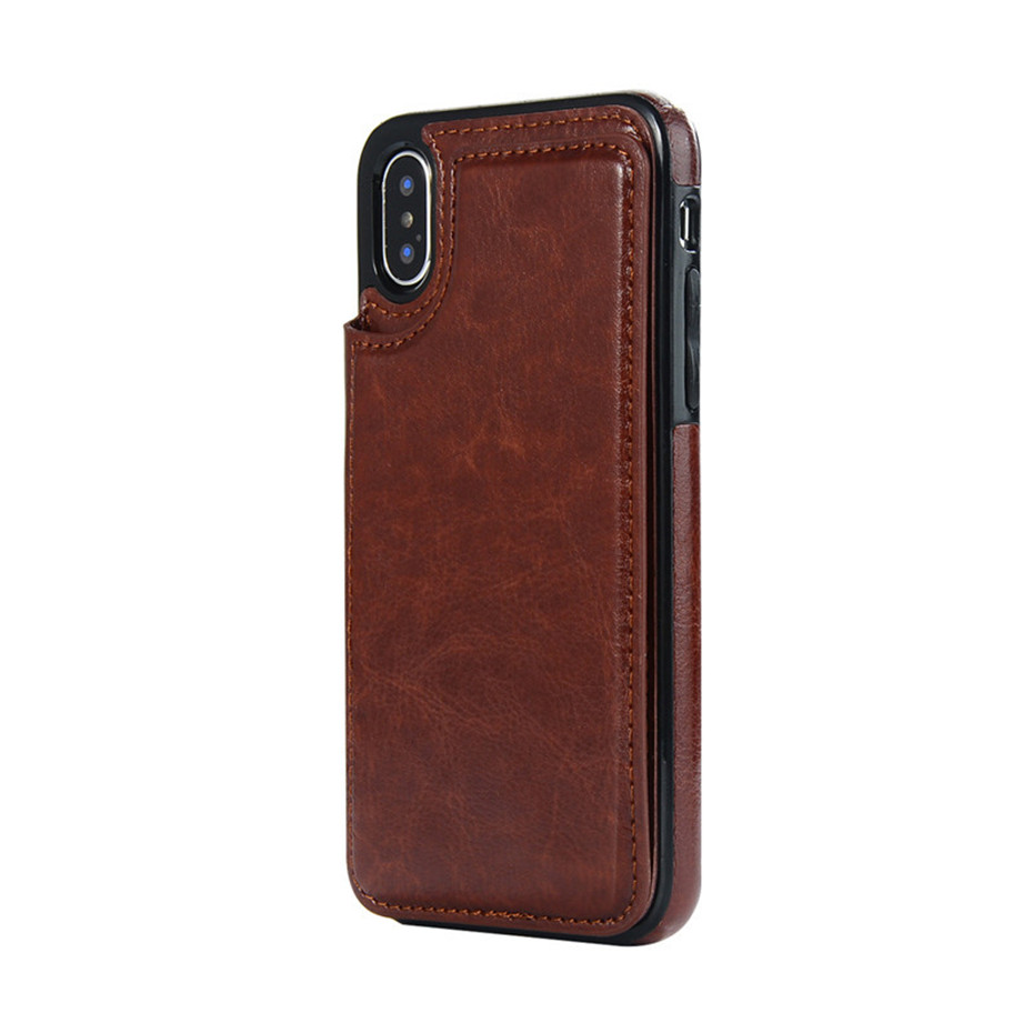 HTB1k.M6SrvpK1RjSZFqq6AXUVXa9 Luxury Slim Fit Premium Leather Cover For iPhone 11 Pro XR XS Max 6 6s 7 8 Plus 5S Wallet Case Card Slots Shockproof Flip Shell
