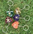 Много 10 шт. 5 star ювелирные изделия смешанный colorful в форме сердца очаровательная nice брелок